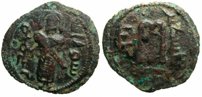 Ancient Coins - ISLAMIC.Iliya Filastin ( JERUSALEM ).AE.Falus.~~~ Muhammad rasul Allah.