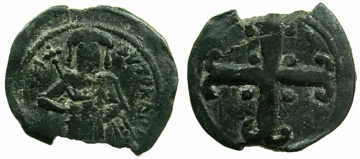 Ancient Coins - BYZANTINE EMPIRE.Andronicus III AD 1328-1341.AE.Assaria.Class IV.Mint of Constantinople