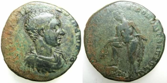 Ancient Coins - MOESIA INFERIOR.NIKOPOLIS AD ISTRUM.Diadumenian Caesar AD 217-218.AE.26.~#~Hermes standing.
