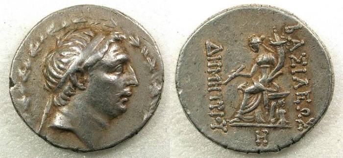 Ancient Coins - SELEUCID EMPIRE.Demetrius I 162-150BC AR Tetradrachm