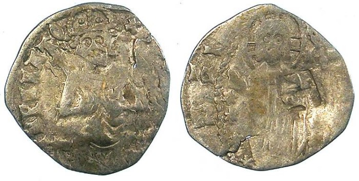 Ancient Coins - SERBIA.Stefan VIII Uros IV Dusan,Emperor 1346-1355.AR.Dinar.