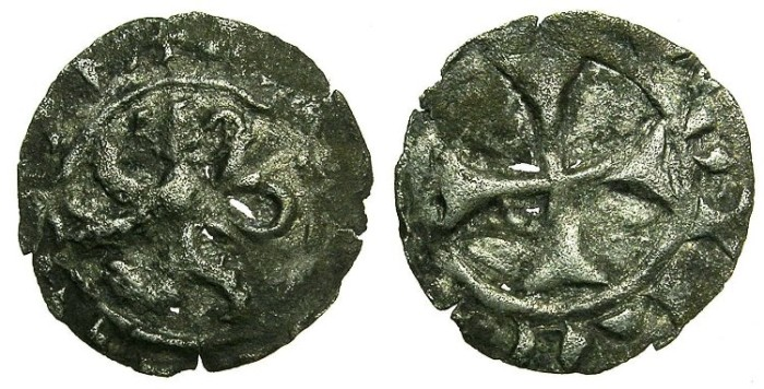 Ancient Coins - CRUSADER STATES.CYPRUS.James I AD 1382-1398.Billon Denier.