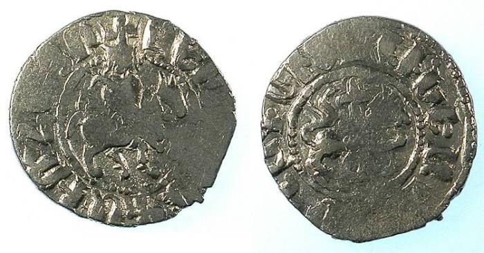 Ancient Coins - CILICIAN ARMENIA.Levon IV 1320-1342.AR.Takvorin.Mint of Sis. Sigla O?-M