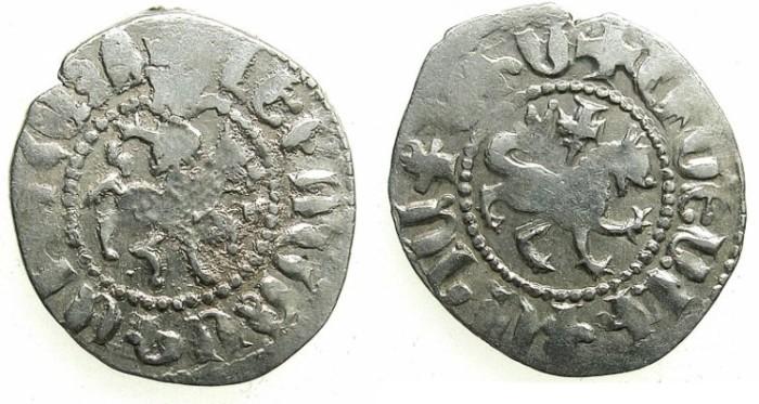Ancient Coins - ARMENIA.Levon IV 1320-1342.AR.Takvorin.Sigla G -M.Mint of Sis.