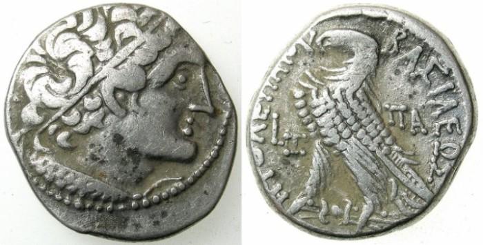 Ancient Coins - PTOLEMAIC EMPIRE.EGYPT.ALEXANDRIA.Ptolemy XII Neos Dionysios 80-51 BC.AR.Tetradrachm.75-74 BC.
