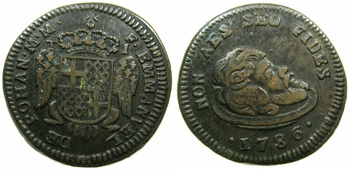 World Coins - MALTA.Emmanuel de Rohan 1775-1786.AE.1 Tari 1786.