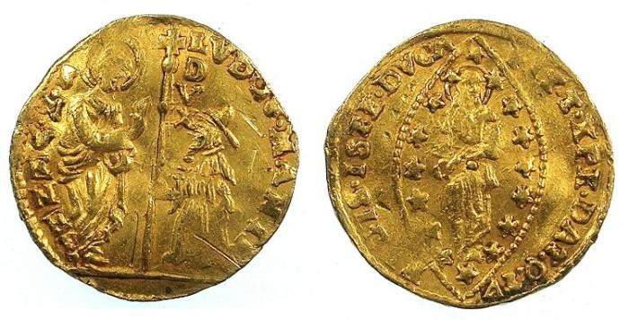 Ancient Coins - ITALY.VENICE.Lodovico Manin AD 1789-1799.AV.Zecchino.