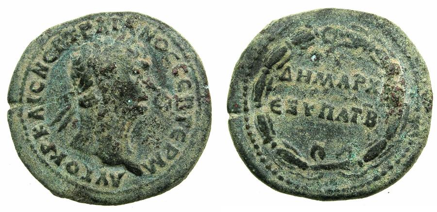 Ancient Coins - SYRIA.ANTIOCH.Trajan AD 98-117.Orichalcum.(Dupondius).Struck AD 98/99.Stuck at the mint of ROME for Syria.