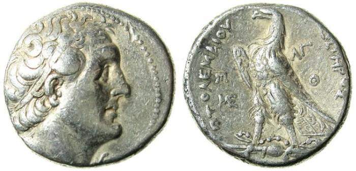 Ancient Coins - Ptolemaic Empire.Ptolemy II Philadelphus  285-246 BC.AR.Tetradrachm.Struck c. 253/2.Phoenician mint of PTOLEMAIS