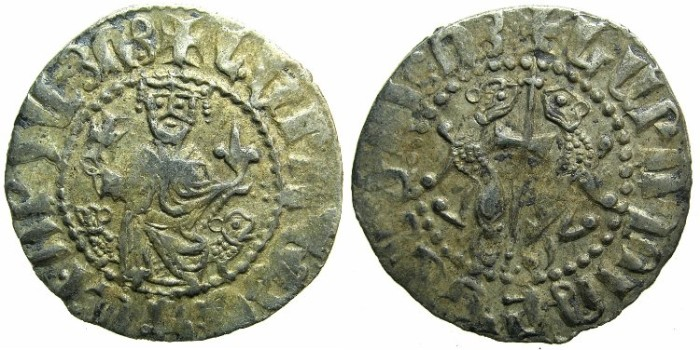 Ancient Coins - CILICIAN ARMENIA.Levon I The Great AD 1199-1219.AR.Tram.~~~Sigla three dots.
