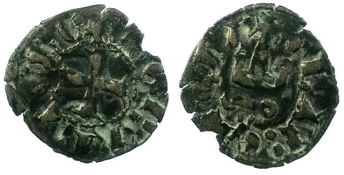 Ancient Coins - CRUSADER.Achaia.Robert d'Anjou-Taranto AD 1346-1364.Bi.Denier.Clarencia mint.