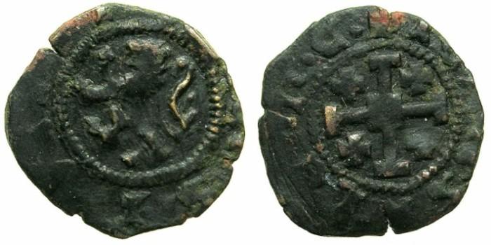 Ancient Coins - CRUSADER STATES.CYPRUS.James II AD 1460-1473.AE.Sesino.