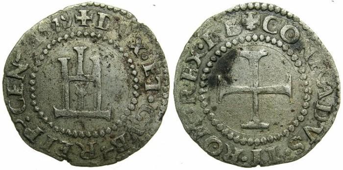 Ancient Coins - ITALY.GENOA.Republic.AR.Cavallotto 1579.Assayer L.B.