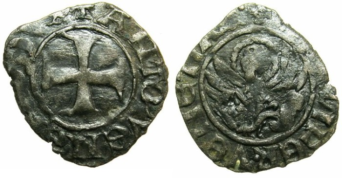 Ancient Coins - CRUSADER.GREECE under VENICE.Antonio Venier AD 1382-1400.
