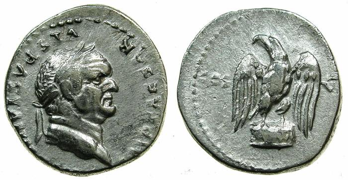 Ancient Coins - ROME.Vespasian AD 69-79.AR.Denarius, struck AD 76.