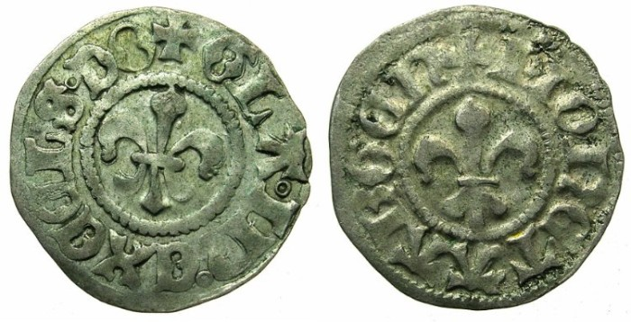 Ancient Coins - FRANCE.ALSACE.Strassburg.Municipal coinage15th-16th cent AD.AR.Kreuzer ( 2 deniers )