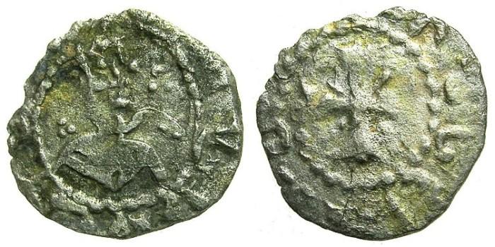 Ancient Coins - ARMENIA.Levon V Lusignan AD 1374-1375.Bi.Obol.