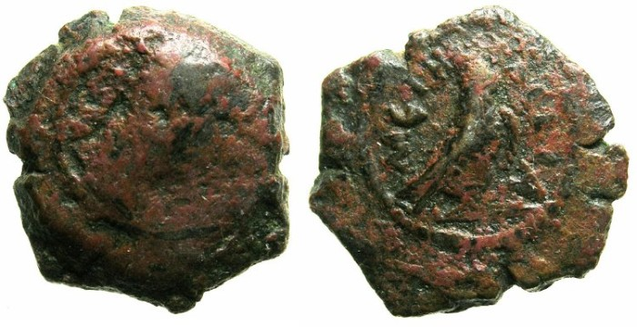Ancient Coins - EGYPT.METELITE NOME.Hadrian AD 117-138.AE.Dichalkon.Struck AD 126/127.~#~Hawk.
