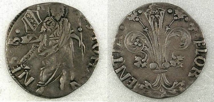 Ancient Coins - ITALY,FLORENCE.Republic AD 1189-1532.AR.Grosso Guelfo.
