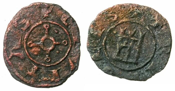 Ancient Coins - CRUSADER.TRIPOLI.Bohemond IV or V Circa  AD 1233-52-75.AE.Fraction.Type 6