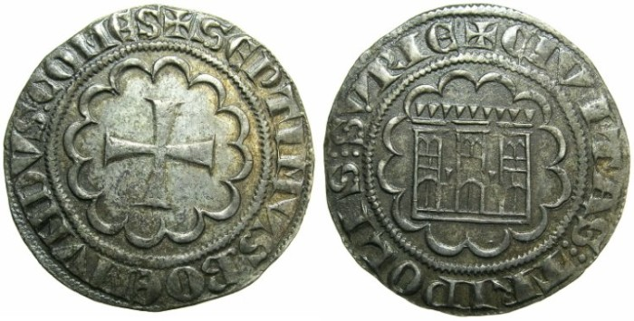 Ancient Coins - CRUSADER STATES.TRIPOLI.Bohemond VII 1275-1287.AR.Gros.