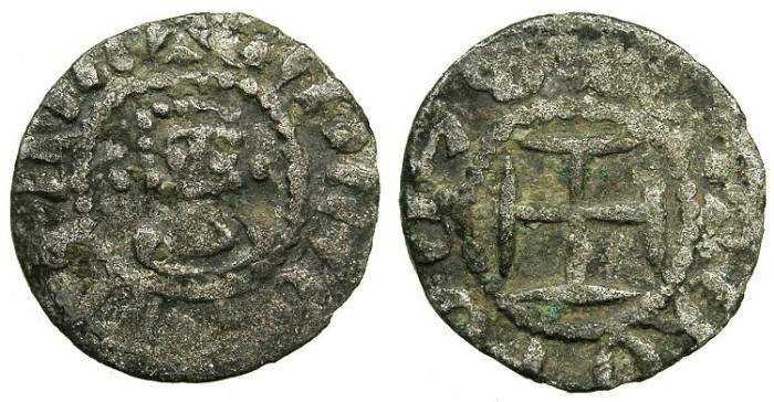 Ancient Coins - ARMENIA, Cilician kingdom.Hetoum II AD 1289-1306.Billon Denier.