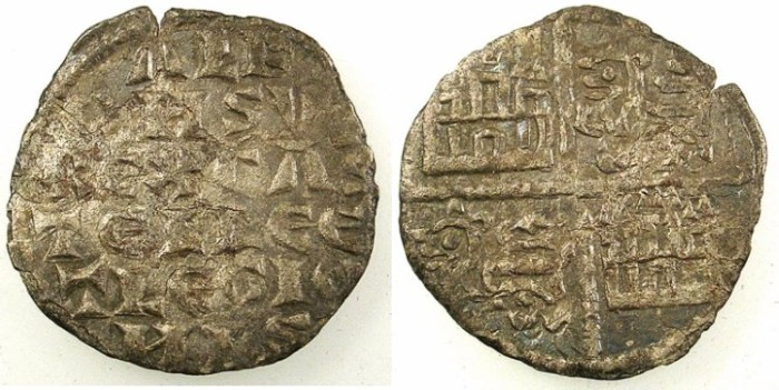 Ancient Coins - SPAIN.CASTILLE AND LEON.Alfonso X AD 1252-1284.Bi.Denaro.No mint mark.