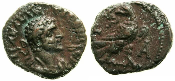 Ancient Coins - EGYPT.ALEXANDRIA.Quintillus AD 270.Billon Tetradrachm.~#~Eagle on thunderbolt, head reverted holding wreath.