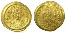 Ancient Coins - BYZANTINE EMPIRE.Justin II AD 565-578.AV.Solidus.Mint of CONSTANTINOPLE.