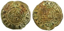 World Coins - SPAIN.CASTILE AND LEON.Ferdinand IV AD 1295-1312.Bi.Denaro.Cuenca mint.