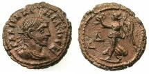 Ancient Coins - EGYPT.ALEXANDRIA.Maximianus Gallerius AD 293-311, as Caesar AD 293-305.Billon Tetradrachm, struck AD295/6.~#~.Nike walking left.
