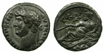 Ancient Coins - EGYPT.ALEXANDRIA.Hadrian AD 117-138.Billon Tetradrachm, struck AD 135/136.~#~.Nilus reclining on crocodile.