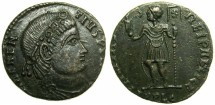 Ancient Coins - ROMAN.Magnentius AD 350-353.AE.Centenionalis.Mint of LUGDUMUM.~#~Portrait of Constans for Magnentius
