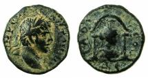Ancient Coins - SYRIA.Seleucis and Pieria.Laodicea ad Mare.Elagabalus AD 218-222.AE.16.9mm.~#~.Bust of Tyche within shrine.