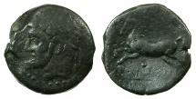 Ancient Coins - NUMIDIA.Massinissa or Micipsa circa 203-148-118 BC.AE.27.2mm.