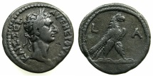 Ancient Coins - EGYPT.ALEXANDRIA.Nerva AD96-98. Billon Tetradrachm, struck AD 96.~#~.Eagle.