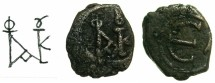Ancient Coins - BYZANTINE EMPIRE.Justin II AD 565-578.AE.Pentanummium, officina A.Mint of CONSTANTINOPLE.