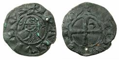 World Coins - CRUSADER STATES.Principality of ANTIOCH. Bohemond III or IV c.1149-1233 Bi.Denier. Class ?