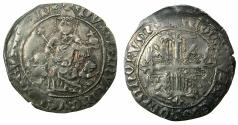 World Coins - CRUSADER STATES.GREECE.Island of CHIOS, under GENOA.The Mahona 1347 and later.AR.Gigliato.***Extremely rare varient with Star at neck ****