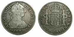 World Coins - MEXICO, under SPAIN.Charles III 1759-1788.AR.2 Reales 1778.Mo FF.