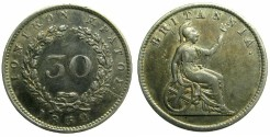 World Coins - GREECE.Ionion Islands.British Administration.AR.30 Lepta 1852.