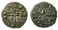 World Coins - FRANCE.LANGUEDOC,TOULOUSE.Raymond VII AD 1222-1249.AR.Denier.