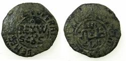 World Coins - ITALY.SICILY.William II AD 1166-1189.AE.Follaro.Mint of MESSINA.