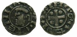 World Coins - FRANCE.VIENNE, Archbishopric.Anonymours issue 12th cent AD.Billon Denier.