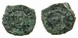 Ancient Coins - BYZANTINE EMPIRE.SICILY.Theophilus AD 829-842.AE.Follis.small module.Mint of SYRACUSE. Obverse brockage.