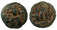 Ancient Coins - ARAB BYZANTINE.Anonymous 7th cent AD.AE.Fals.4.13g.Mint of Hims ( Emessa).