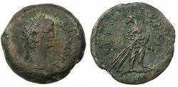 Ancient Coins - EGYPT.ALEXANDRIA.Claudius AD 41-54.AE.Diobol,struck AD 52/53. Reverse.Standing Ptolemaic style eagle.