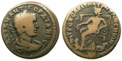 Ancient Coins - IONIA.METROPOLIS.Gordian III AD 238-244.AE.28.2mm.~#~.Kybele enthroned.