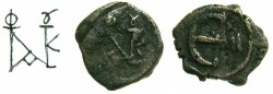 Ancient Coins - BYZANTINE EMPIRE.Justin II AD 565-578.AE.Pentanummium.Mint of NICOMEDIA.