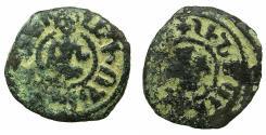 World Coins - ARMENIA, Cilician kingdom. Levon III 1301-1307.AE.Kardez.Mint of SIS. king seated in oriental fashion